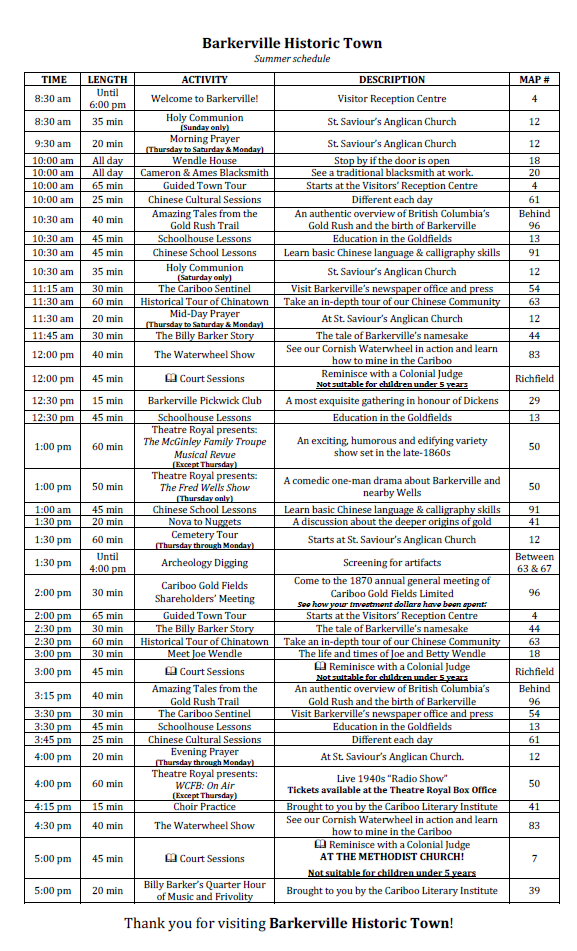 spring 2015 typical daily weekday schedule