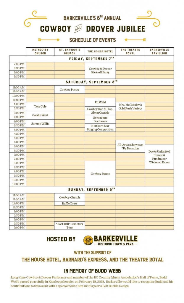 2018 Cowboy Drover Jubilee Public Schedule Final_Page_1